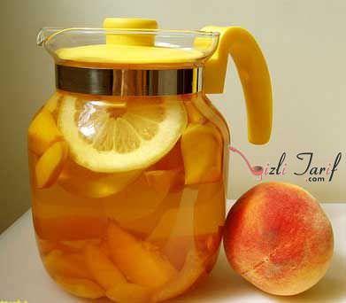 şeftali buzlu çay ice tea
